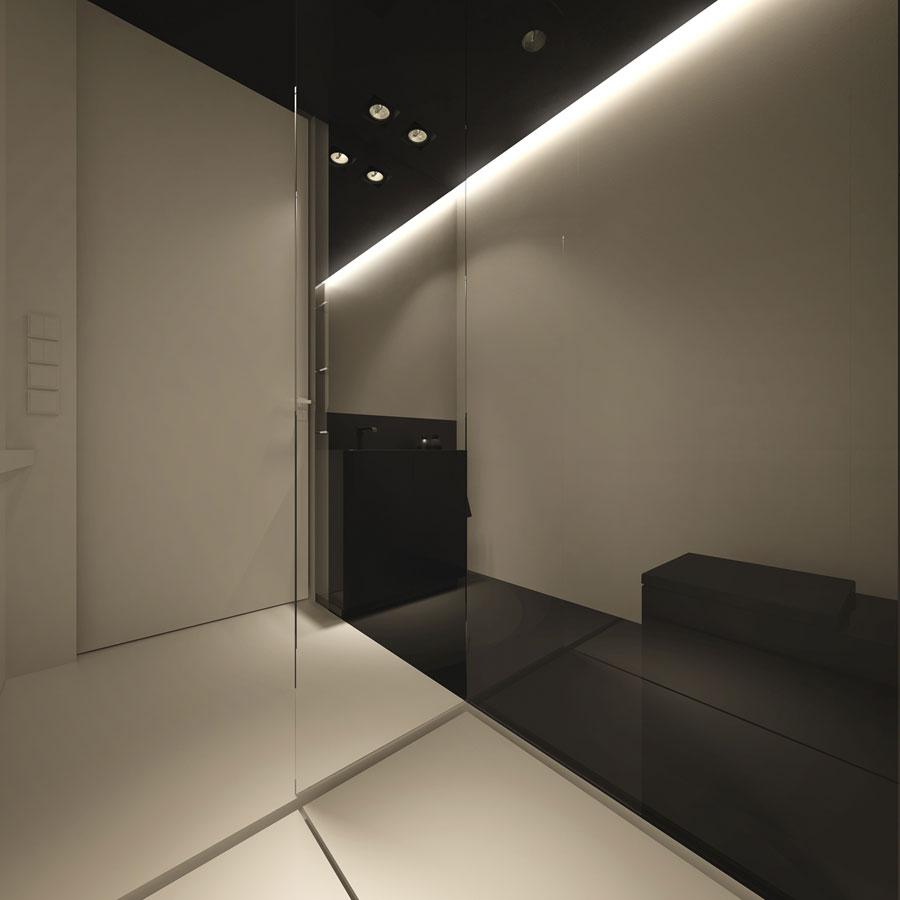 Moderne, strakke en minimalistische badkamer uit Warschau