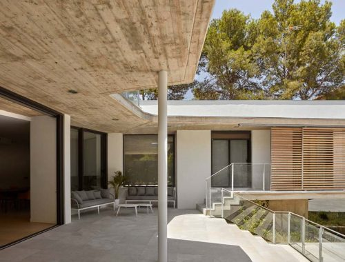 moderne tuin overdekt terras
