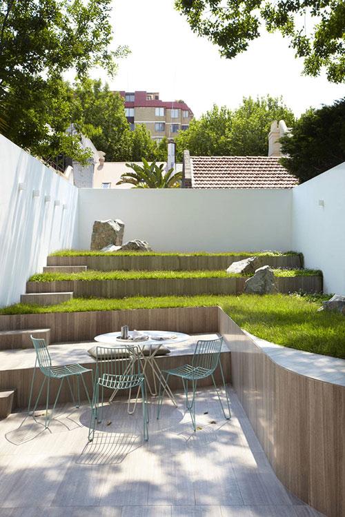 Moderne tuin als verlengde van de keuken