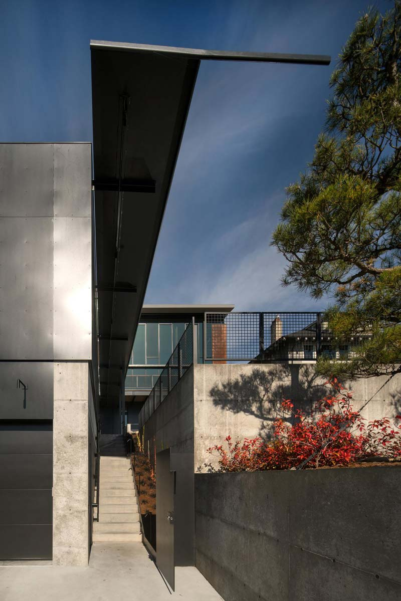 moderne woning betonnen gevel
