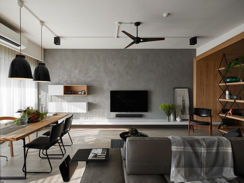 moderne-woonkamer-betonstuc-muur