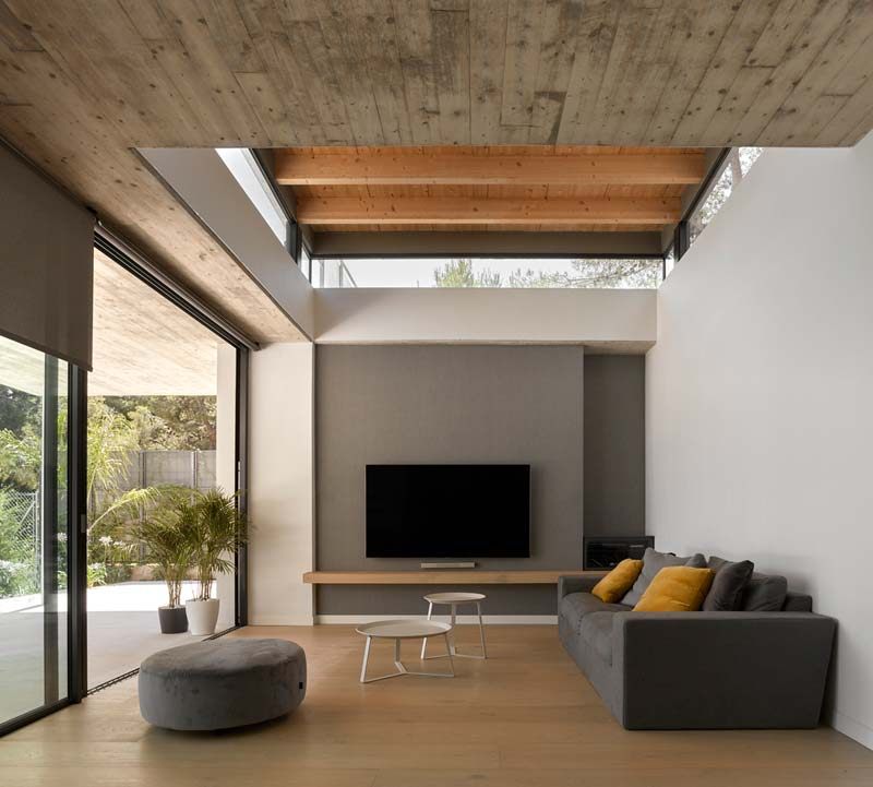 moderne woonkamer glazen schuifpui