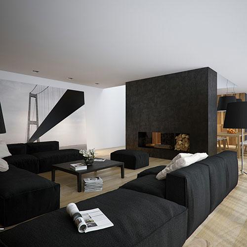 Moderne woonkamers voorbeelden