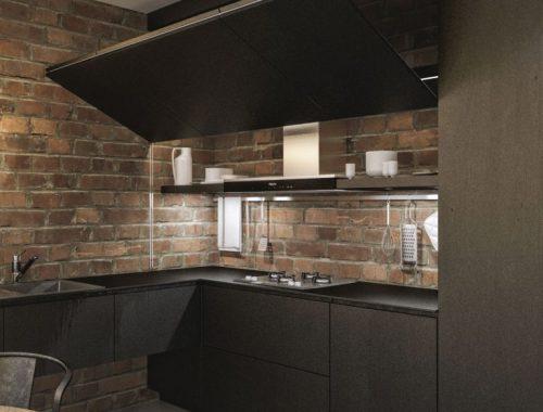 moderne-zwarte-loft-keuken