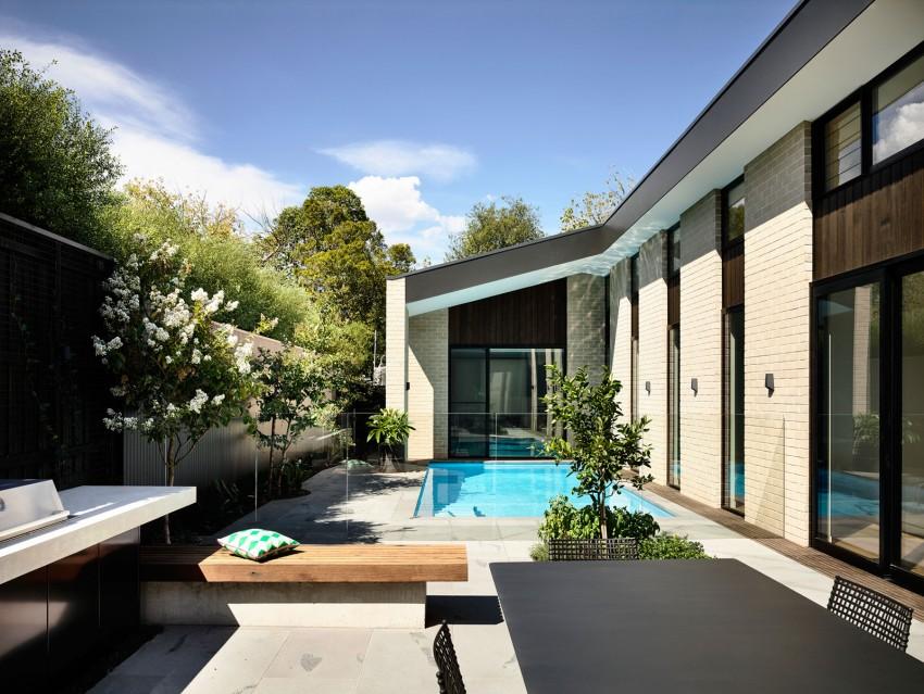 Moderne zwembad tuin uit australië huis inrichten