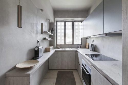 Monochroom interieur met houttinten