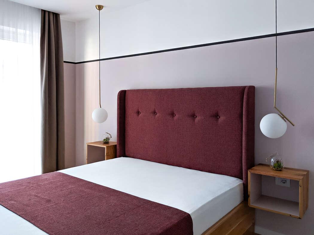 Mooie blauw roze slaapkamer