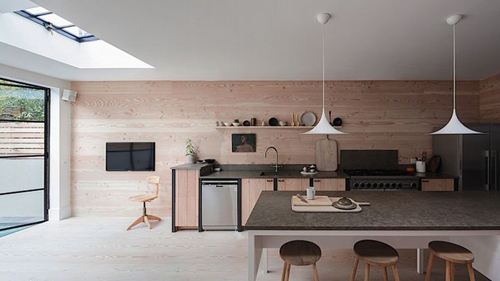 Mooie houten keuken uit London