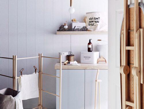 mooie-houten-wasrek-staand