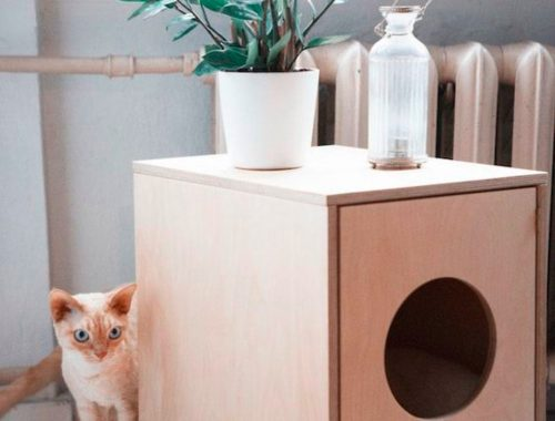 Mooie kattenbak design