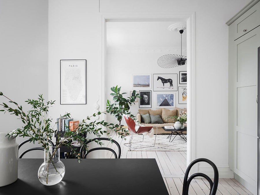 Mooie lichtgroene keuken