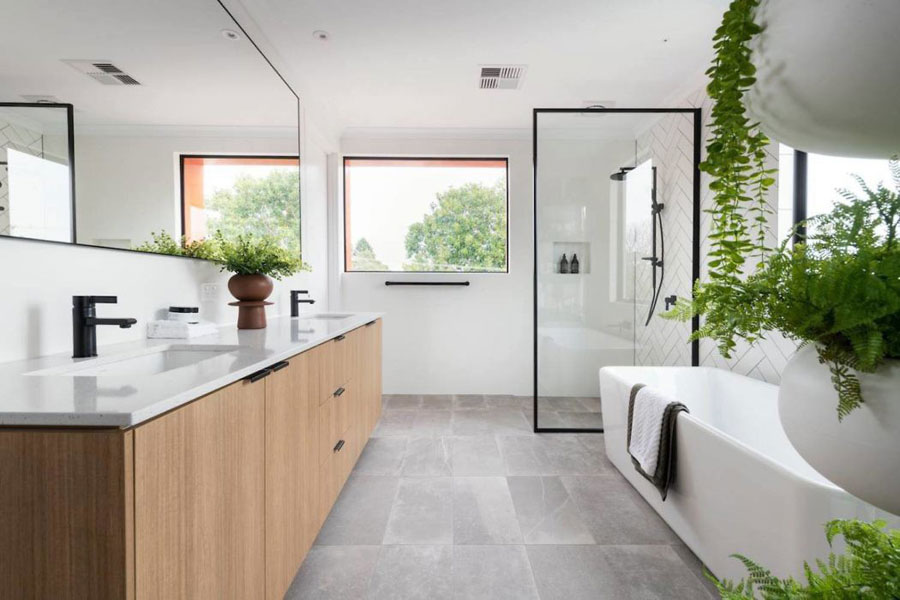 mooie moderne badkamers voorbeelden