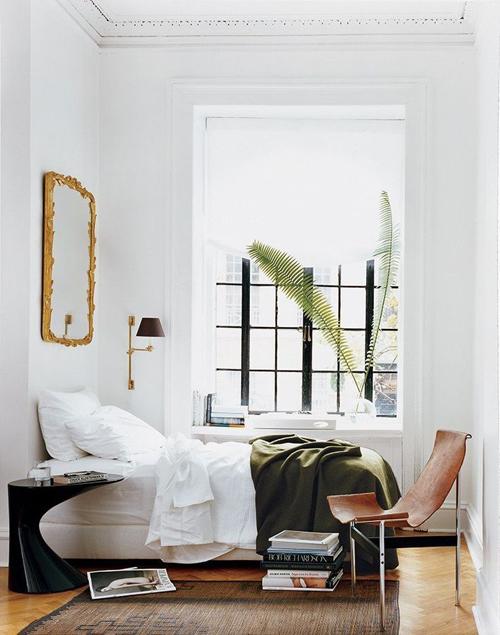 White Minimal Dorm Room