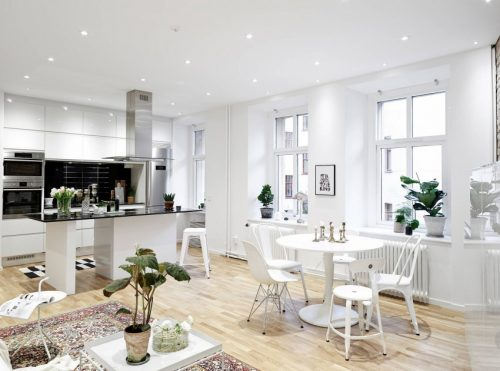 Mooie styling in Scandinavisch appartement