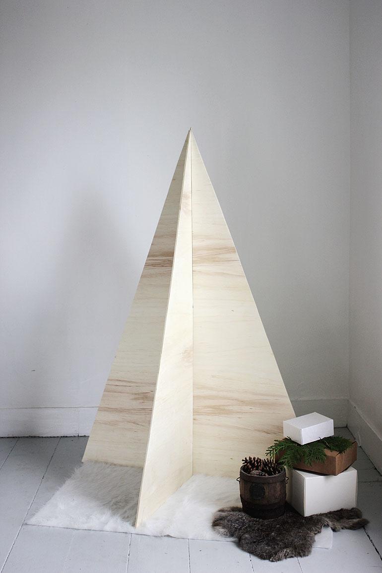 multiplex houten kerstboom maken