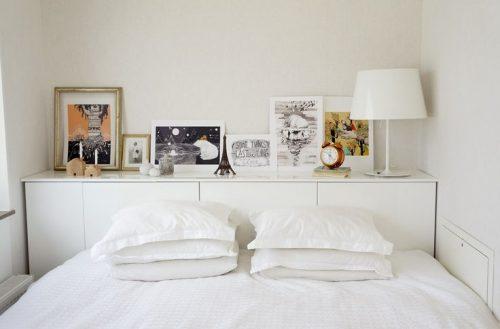 Muurtje achter bed
