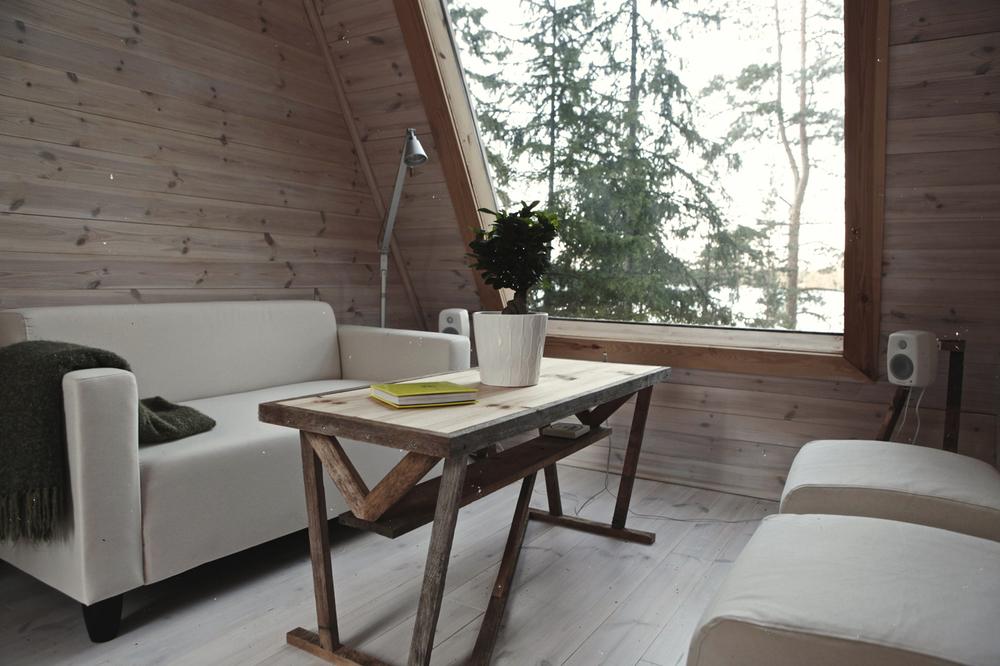 Nido minimalistisch houten huisje in de finse natuur huis