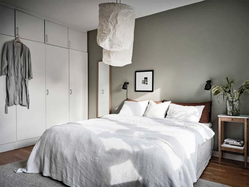 olijfgroene muur flexa olijfgroen expert slaapkamer