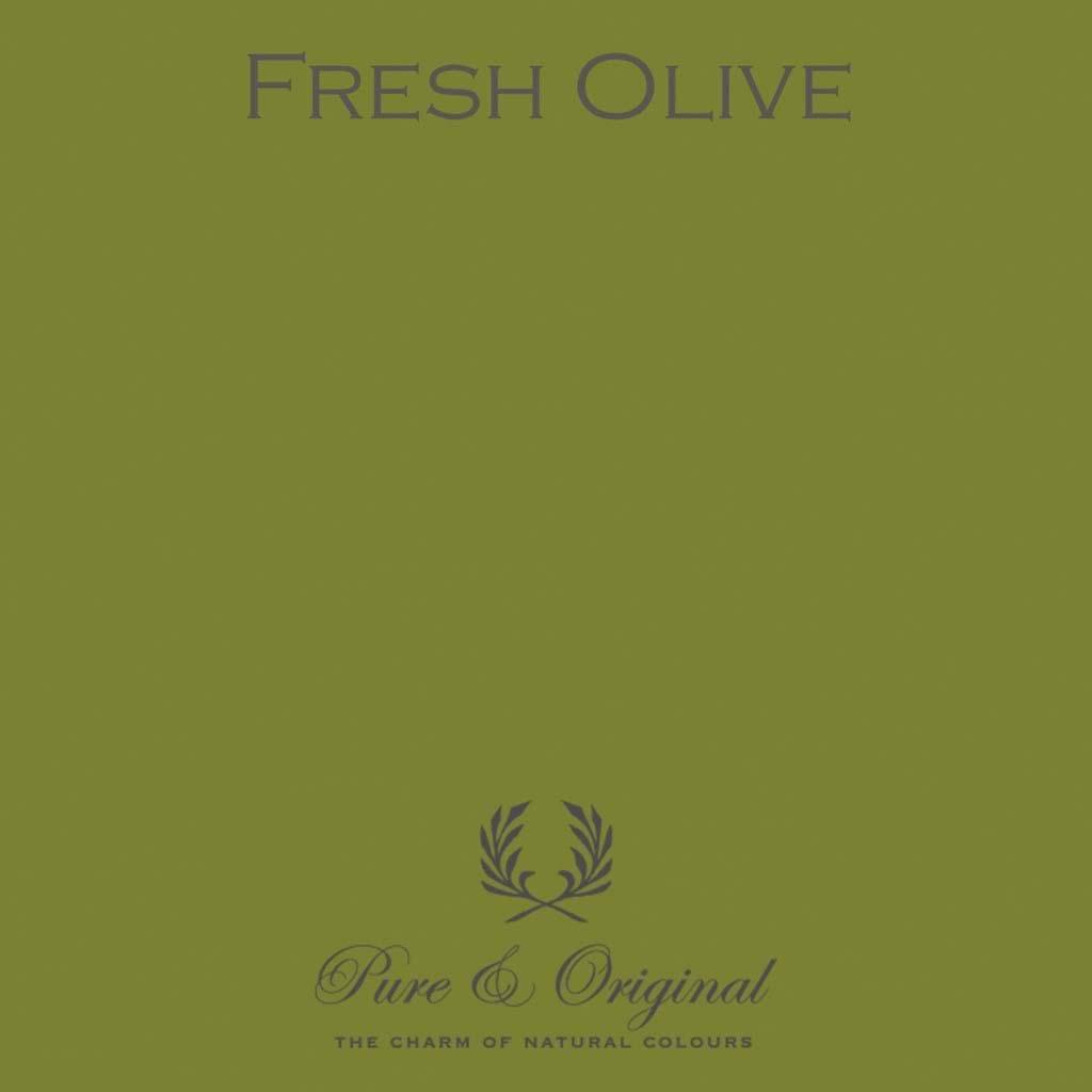 olijfgroene muur pure original fresh olive