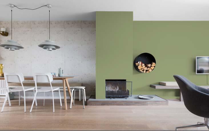 olijgroene muur histor olive sprig