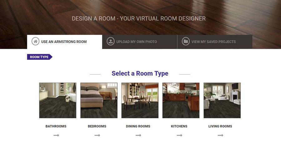 Online huis inrichten tool armstrong flooring design vloer tool