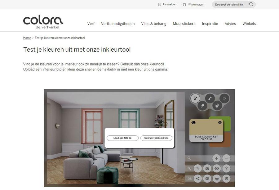 Online huis inrichten tool colora kleurtool