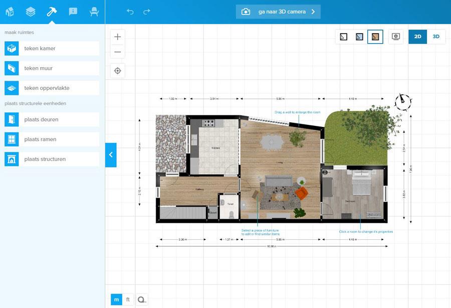 Online huis inrichten tool floorplanner