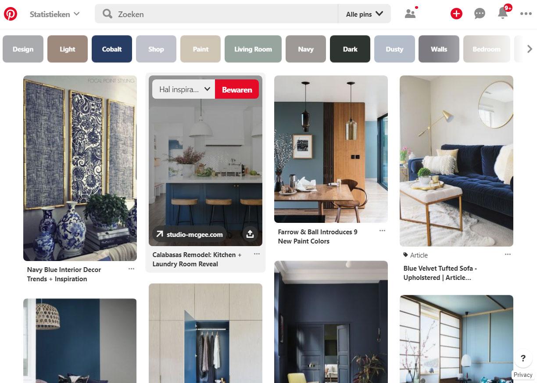 Online moodboard maken Pinterest