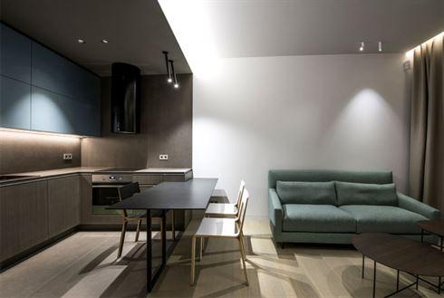 Ontwerp van een klein modern huurappartement van 40m2