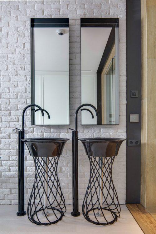 Open badkamer ontwerp van loft appartement