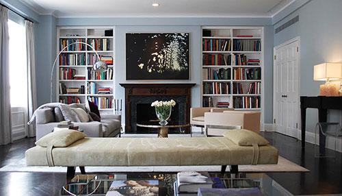 Open boekenkast woonkamer