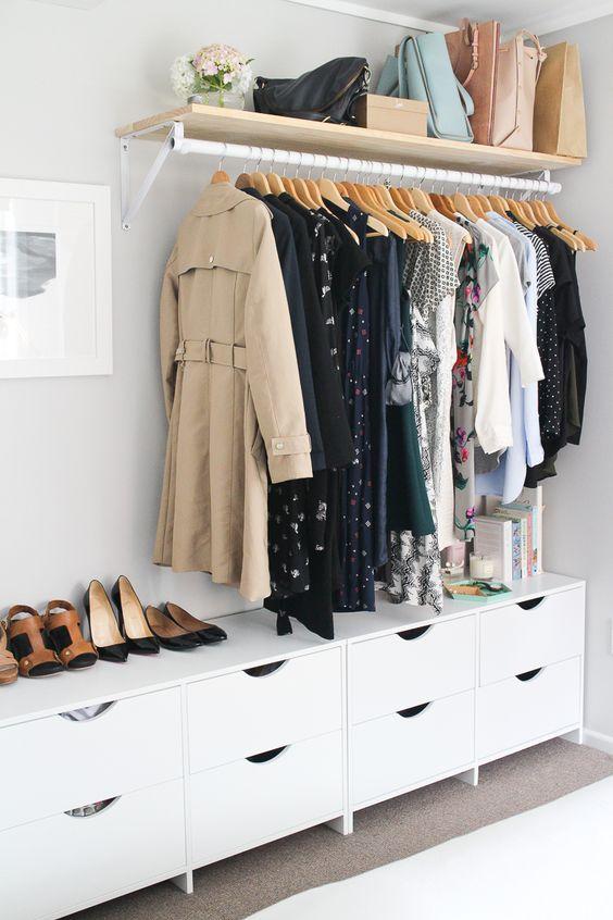 open kledingkast systeem slaapkamer