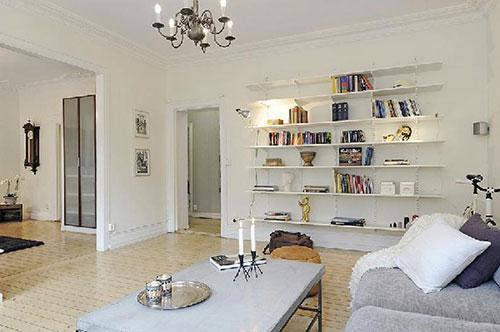 Open planken woonkamer