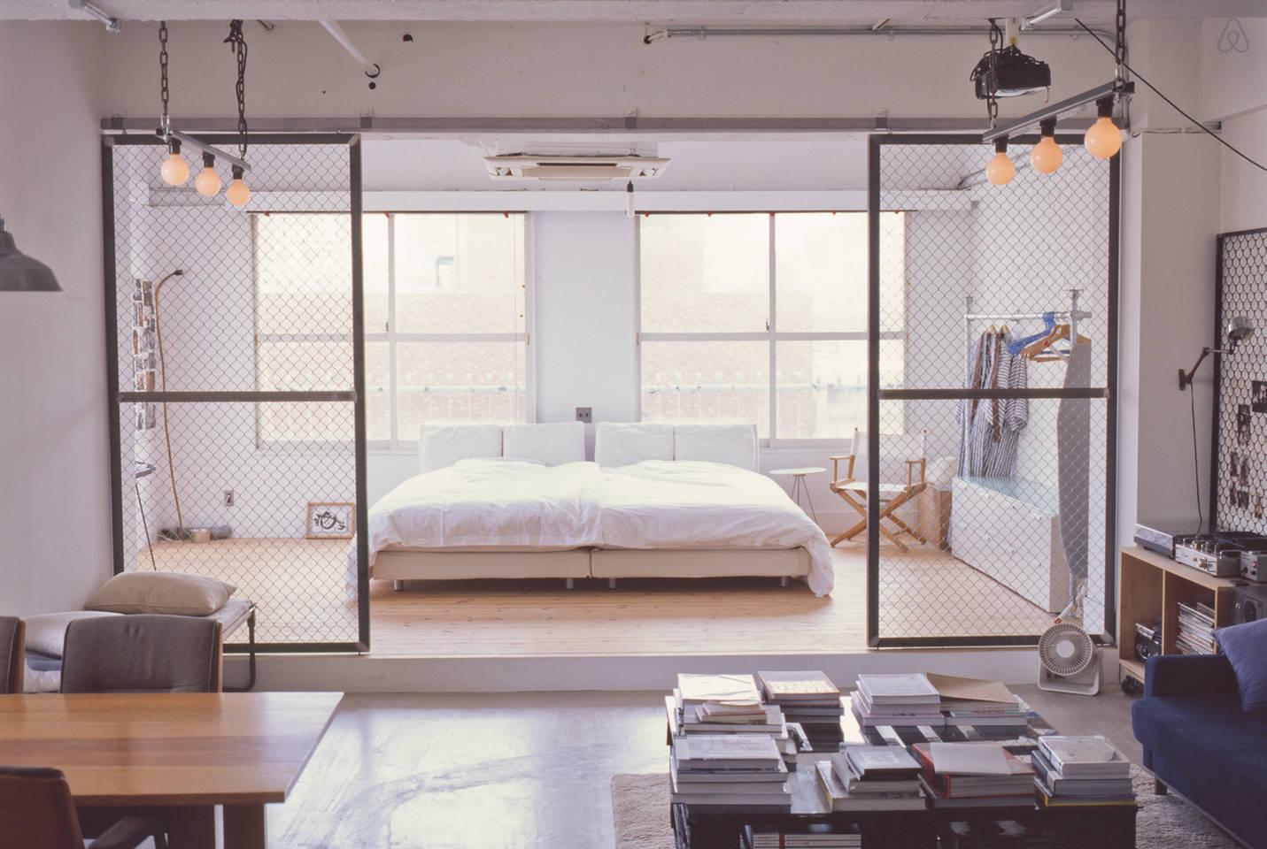 Inrichting Loft Inspiratie.Open Slaapkamer Van Loft In Tokyo Huis Inrichten Com