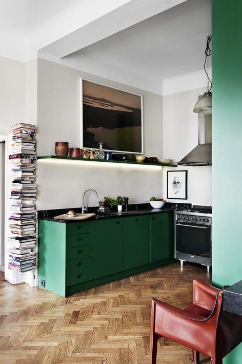 opvallende-groene-keuken