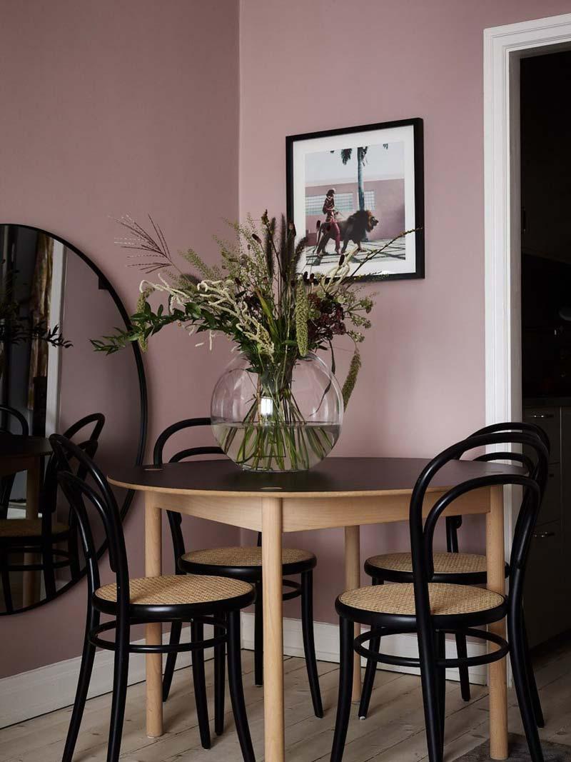 oud roze muur farrow & ball sulking room pink