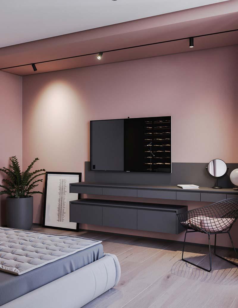 Oud roze muur Histor - Lever S 4020 R