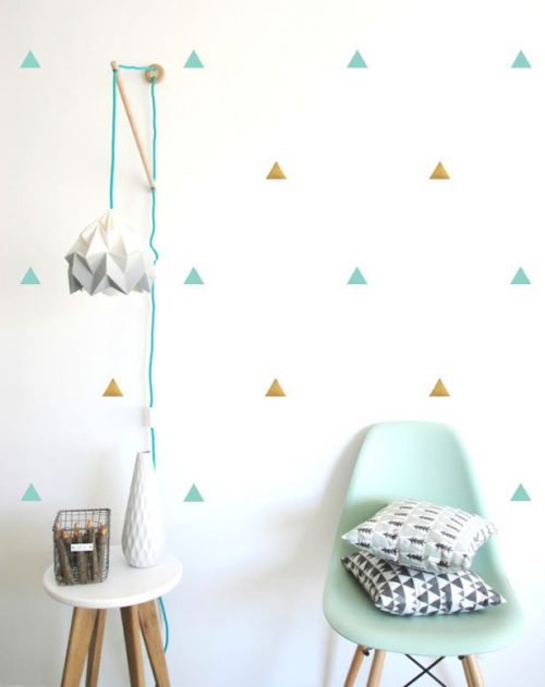 Patroon met driehoekjes muursticker