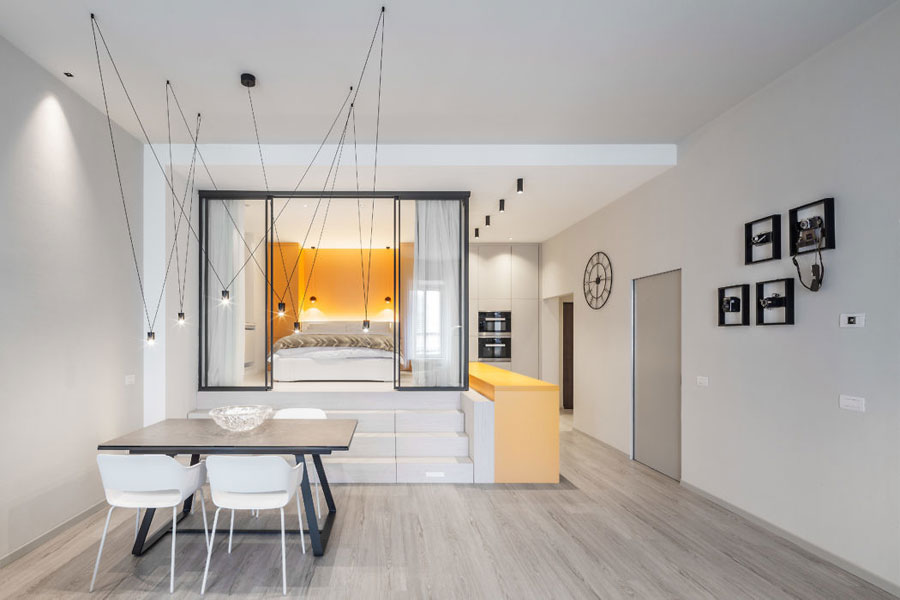 Perfect interieurontwerp voor een klein appartement uit Italië