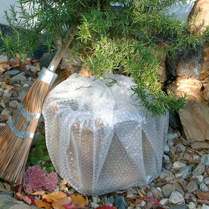 planten pot beschermen winter noppenfolie