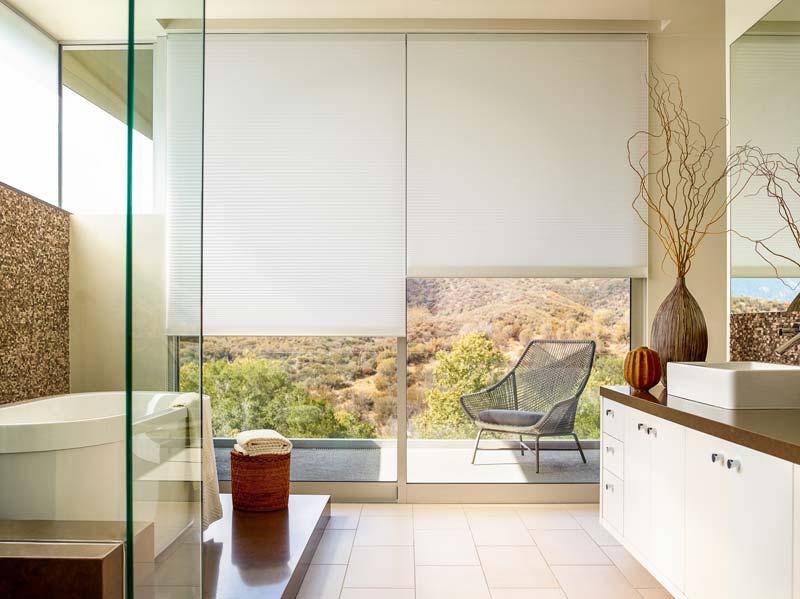 plissegordijnen badkamer grote ramen