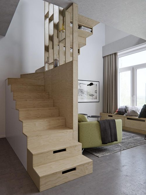 Praktische inrichting voor een kleine woonkamer
