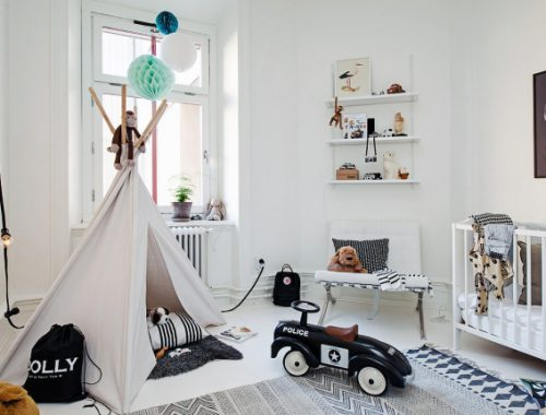 Praktische kinderkamer decoratie