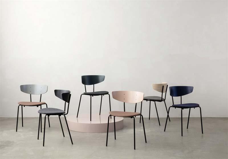 roze stoel ferm living herman chair