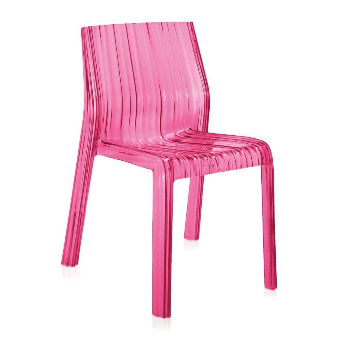 roze stoel kartell frilly chair