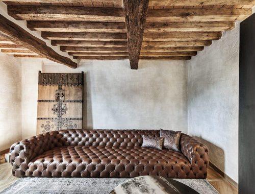 Rustieke vintage woonkamer uit Italië