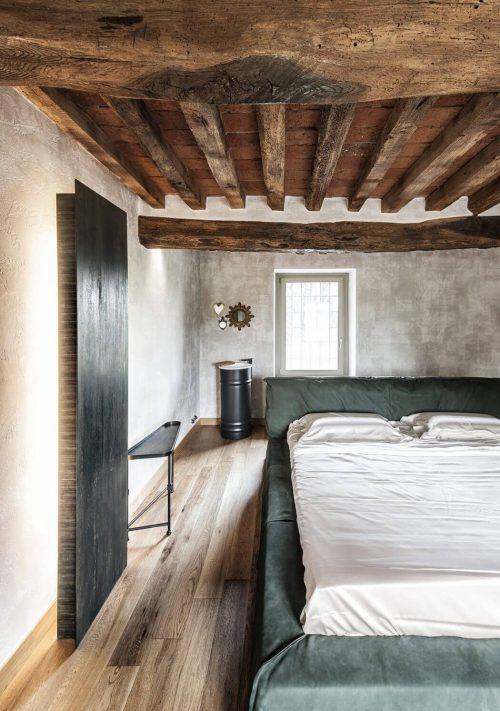 Rustieke slaapkamer met stoere details