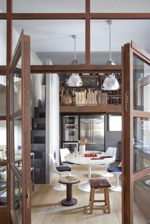 Rustieke woonkeuken met vide