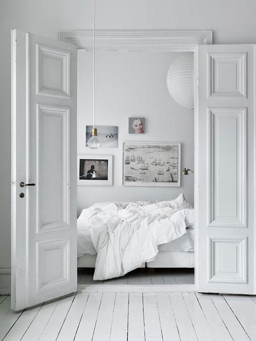 Scandinavische slaapkamer van interieur stylist Emma