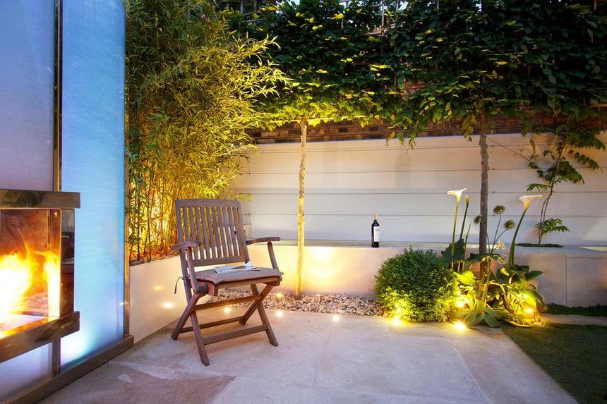 sfeervolle inbouwspots tuin